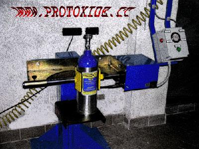 stazione di ricarica bombole protossido